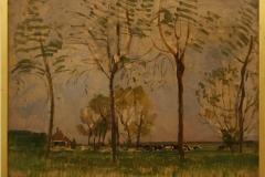 Piet-Mondriaan-1907-ca-Boerderij-met-vier-hoge-bomen-in-de-voorgrond-I